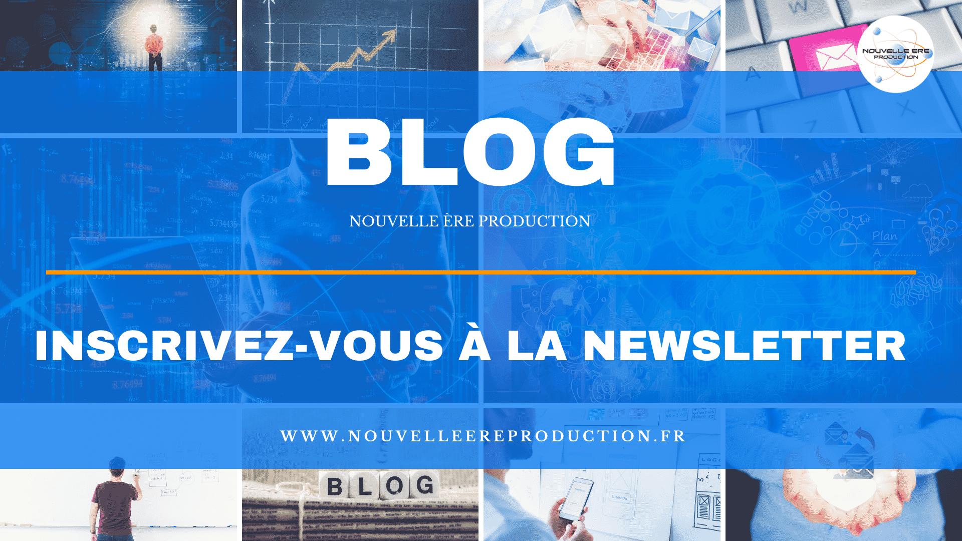 Blog inscrivez vous à la newsletter