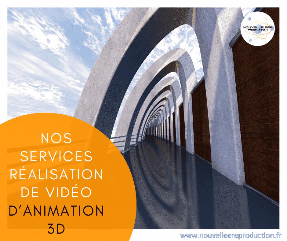 Nos services réalisation de vidéo d'animation 3D