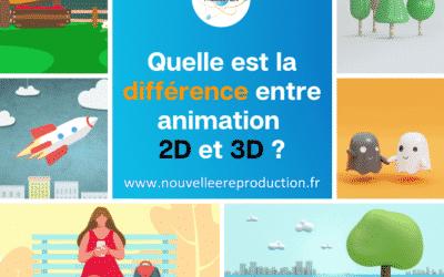 Quelle est la différence entre animation 2D et 3D ?