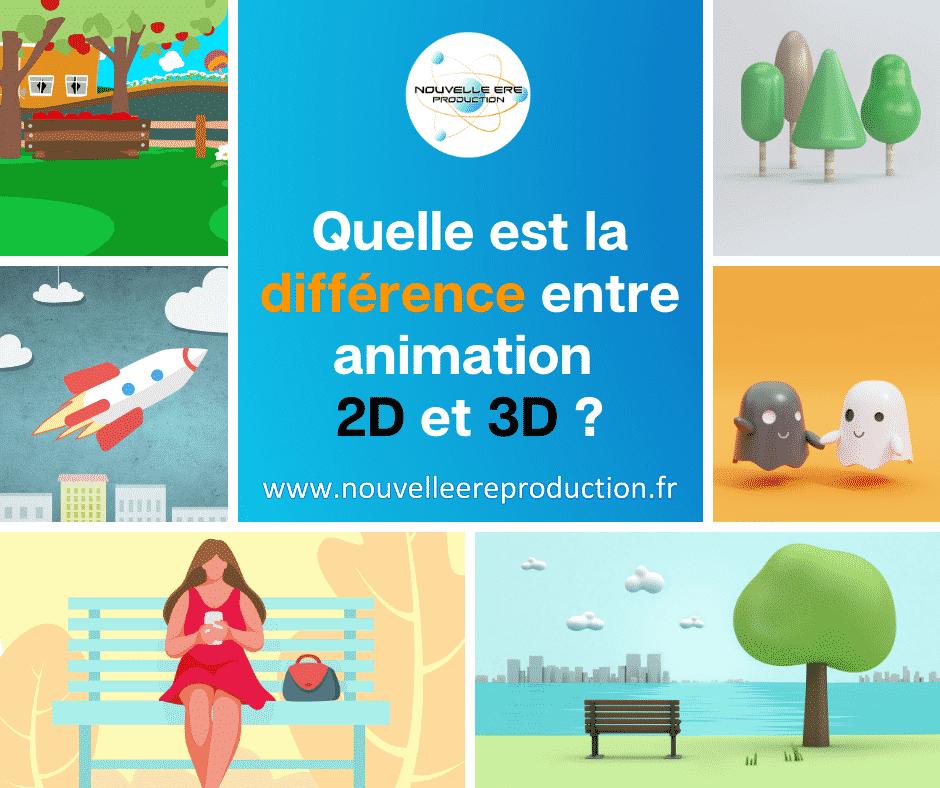 Quelle est la différence entre animation 2D et 3D